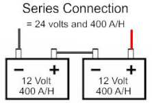 Series 12 volt battery connection