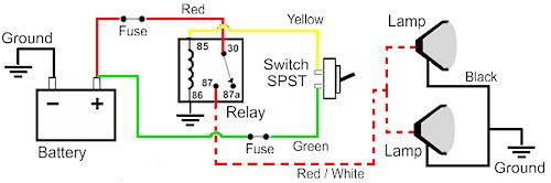 Fog Or Driving Light Schematic
